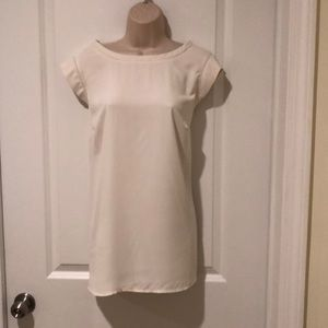 NWT ivory mixed media top from LOFT plus 18+